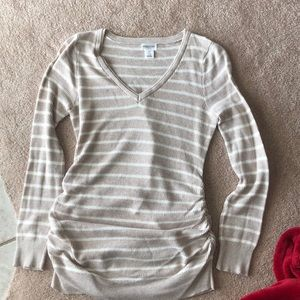 Maternity knit v-neck sweater